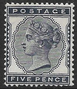 SG169 5d Indigo 1880-81 MOUNTED Mint (Queen Victoria Surface Printed Stamps)